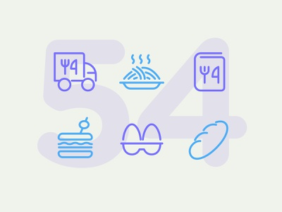 Day 54 icon set icons ui icon vector line illustration food