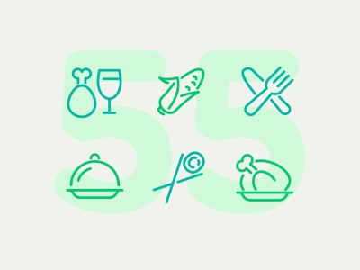 Day 55 food illustration line vector icon ui icons icon set