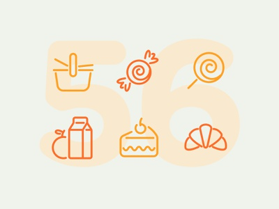 Day 56 icon set icons ui icon vector line illustration food