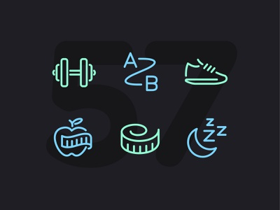 Day 57 workout fitness illustration line vector icon ui icons icon set