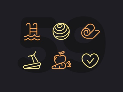 Day 59 workout fitness illustration line vector icon ui icons icon set