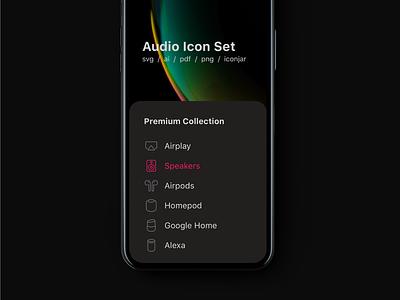 Audio Icons audio music iphone illustration interface line vector icon ui icons icon set
