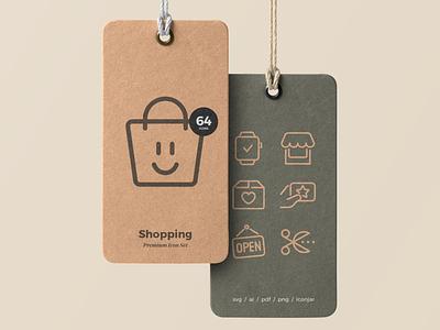 Shopping Icons illustration line vector icon ui shopping icons icon set