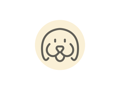 Weekly warm-up woof line pet icon dog puppy