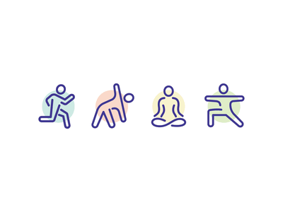 Fitness Icons vector line running health exercise meditation illustration workout icon set icons icon fitness