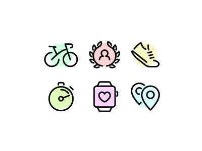 Fitness Icons health running workout fitness illustration line vector ui icon icons icon set