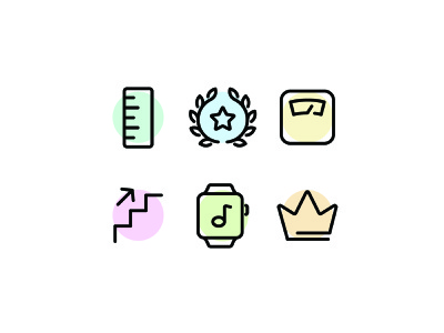 Fitness Line Icons illustration health exercise workout fitness line vector ui icon icons icon set