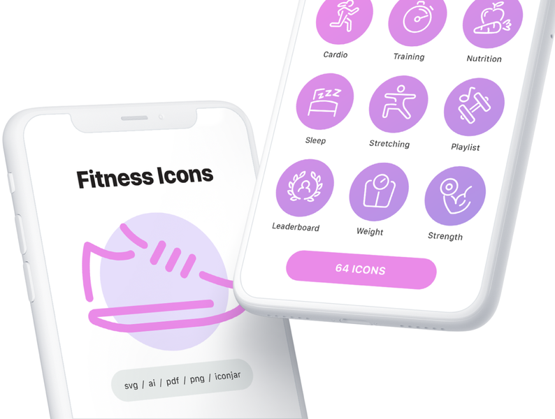 Fitness and Exercise Line Icons