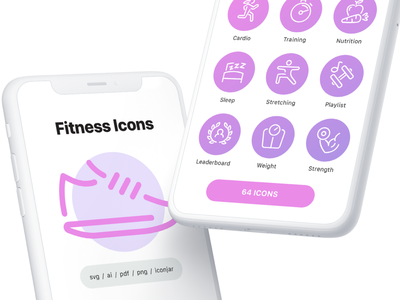 Fitness and Exercise Line Icons workout exercise fitness illustration line vector ui icon icons icon set