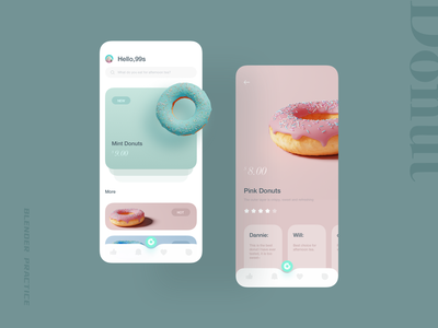 Donuts Interface Practice ui design app