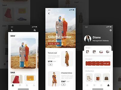 Women's Clothing Store App Concept Design shopping app ui app