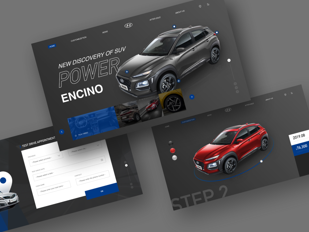 Automotive Website Concept websites web design automobile