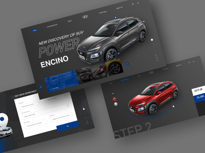 Automotive Website Concept websites web design automobile