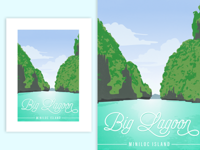 Big Lagoon, Miniloc Island, Philippines | Poster