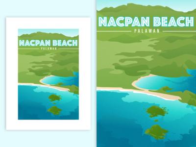 Nacpan Beach, Palawan, Philippines | Poster