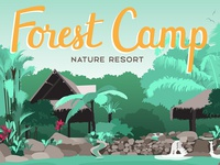 Forest Camp Poster | Detail