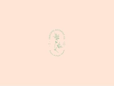 Fanciful Botanist Logo illustration floral seal typography stamp logo identity branding