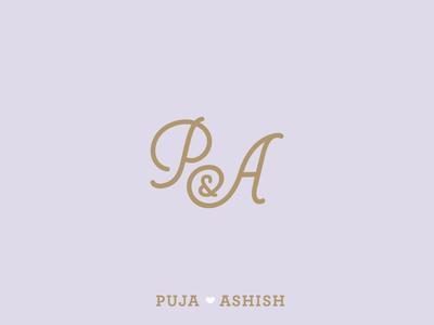 P + A Monogram