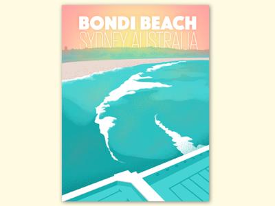 Bondi Beach | Sydney, Australia | Travel Poster