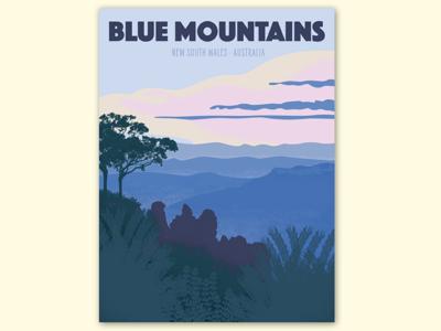 Blue Mountains | NSW Australia | Travel Poster
