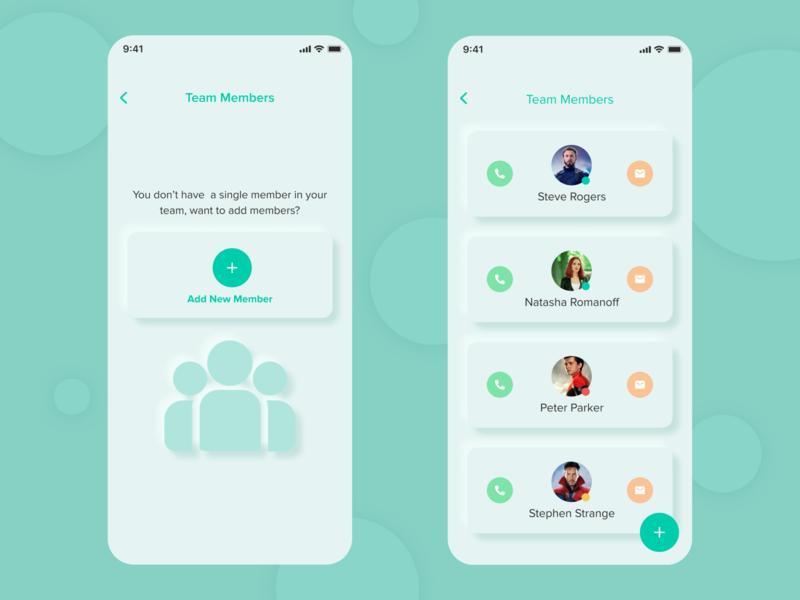 Team Members List, Team Management App, User Managemnt