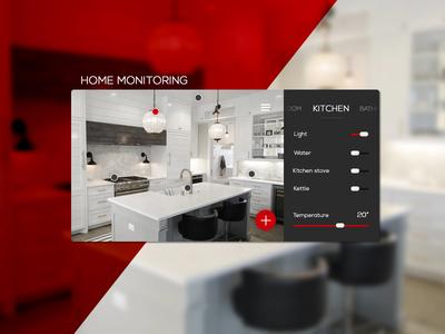 Daily UI #021 Home Monitoring Dashboard