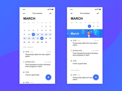 Time management APP Design