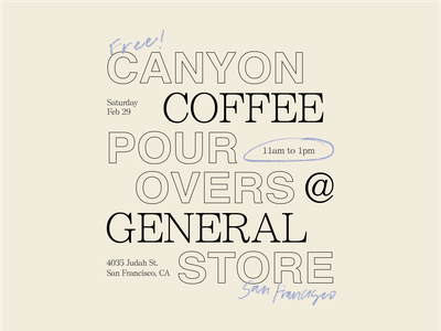 Canyon Coffee x General Store Flyer — No.2 coffee