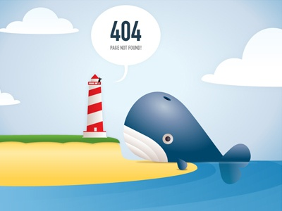 The Juice Agency Blog 404 page juice the juice agency whale 404 illustration lighthouse