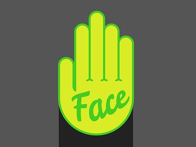 Face Palm humor sticker illustration icon hand