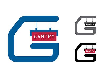 Gantry Variants shipping container crane marine gantry word mark logo