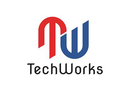 TechWorks branding typography logo