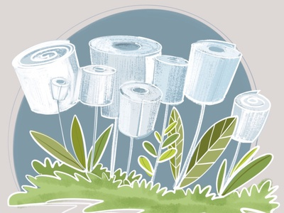 How about growing these in your backyard this spring design designer funny concept art garden paper toilet paper procreate art procreate apple pencil ipad pro art illustration concept