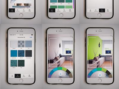 Ar App for choosing wall shades mockup arapp augmentedreality