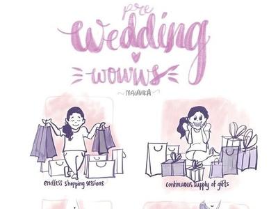 Wedding Wows wedding art ipad pro apple pencil digital illustrations digital 2d illustration