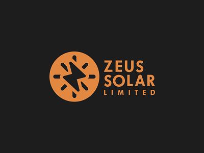 Zeus Solar Logo brand design logo design
