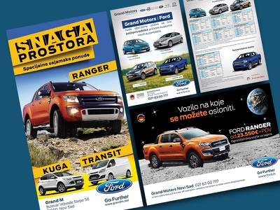 Ford Trifold flyer design leporello trifold