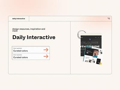 Daily Interactive - Header design landing page design web designer landingpage lightmode webdesign concept ui uidesign screendesign