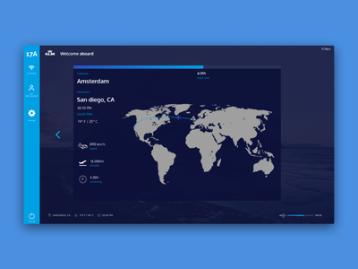 KLM IFE design firstshot web screendesign uidesign inflightentertainment ife ux ui