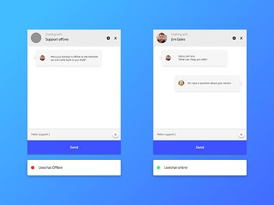 Live chat ui lightmode screendesign app firstshot ux uidesignpatterns sharpen.design chatting uidesigns livechat chat uidesign design ui