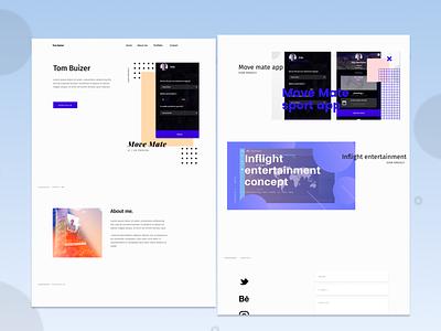 Portfolio Website Concept uidesign ux design screendesign ui  ux portfoliowebsite portfolio webdesign ui design concept lightmode uiux ui