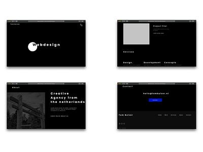 Personal website design darkui uidesign darkmode concept ui screendesign website concept ux dailyui design webdesign dark website