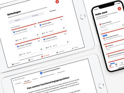 Zuidema Influence Hub android ios design minimal learn dashboard tab bar app layout mobile tablet clean cards product design ui ux learning ipad mini ipad zuidema