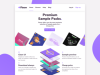 Homepage Design for conceptual sample store