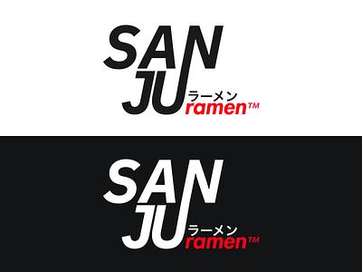 Sanju Ramen - Logo Design affinity designer japanese sanju ramen design branding typography logo