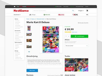 Nedgame — Desktop Redesign sketch nintendo switch shop redesign gamestore product home desktop website web ux ui concept branding design games webshop nedgame