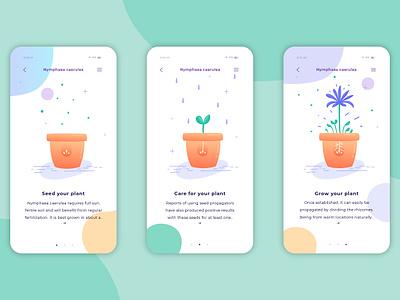 Plant app concept application design application plants app design app icon sketch web design minimal website web flat ux ui typography graphic design illustration identity branding design