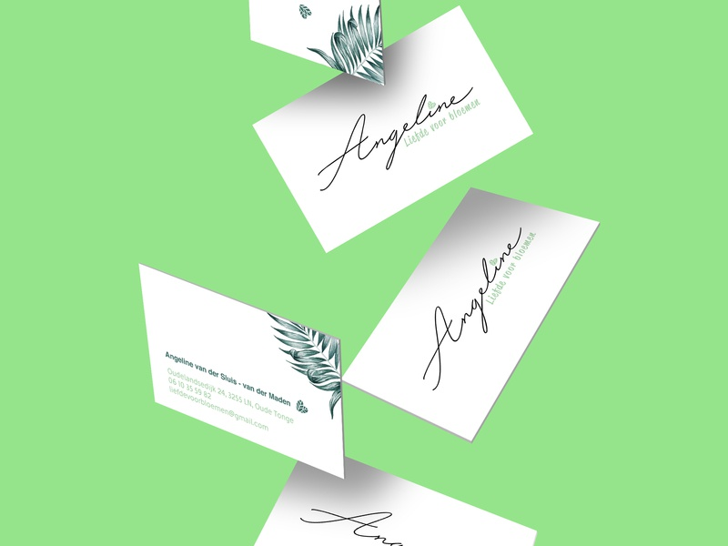 Angeline - Liefde voor bloemen logodesign logotype typography type logo typeface type logo design logo illustration identity graphic design flowers design corporate design branding brand identity
