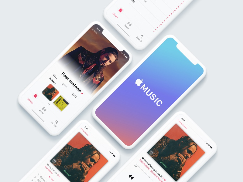 Apple Music redesign concept apple design ios app website web design web ux ui typography sketch apple ios illustration identity graphic design design branding application design application app design app