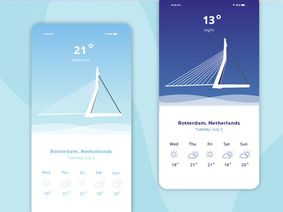 Weather App concept ux design ui design ui  ux web design web ux ui typography sketch rotterdam illustration graphic design design branding application design concept design application concept app design app